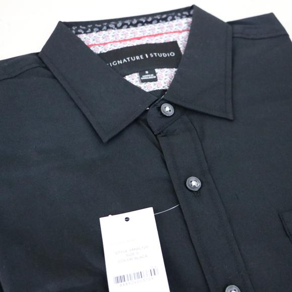 Signature Studio Other - Black Long Sleeve Men's S Button Up Dress Shirt